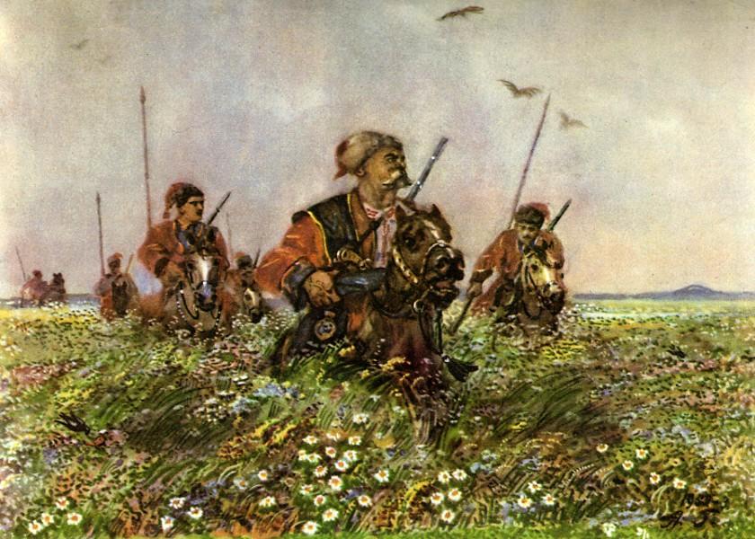 Тарас Бульба, Остап и Андрий в степи