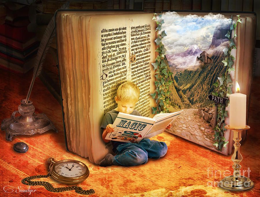 """""""The Book of Magic """" by smudgers-art."""