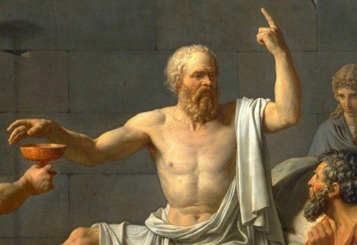 Жак Луи Давид. Смерть Сократа. 1787. Фрагмент.