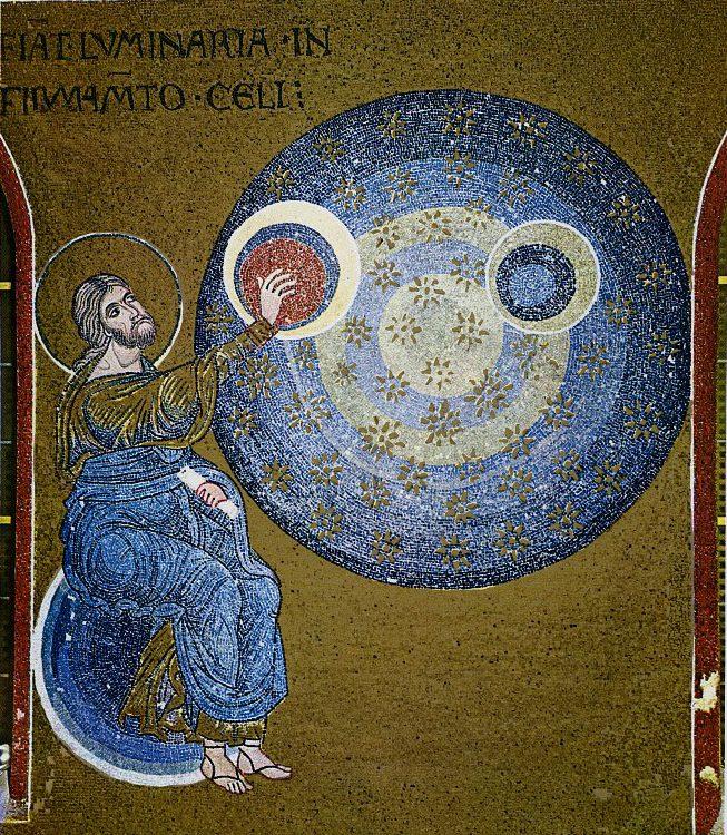 Сотворение мира. Мозаика собора в Монреале.