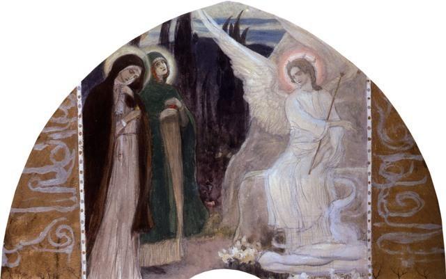 Нестеров Михаил. Ангел у гроба Господня возвещает весть о Воскресении Иисуса