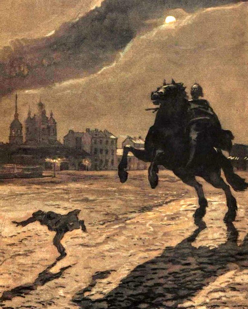За ним несется Всадник Медный на звонко-скачущем коне!