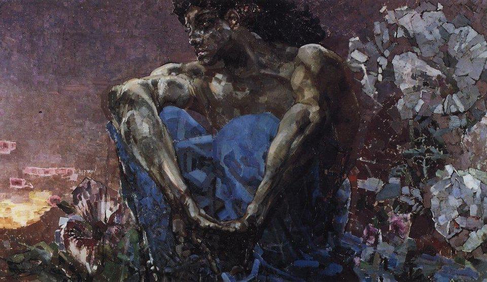 Михаил Врубель. Демон сидящий. 1890.