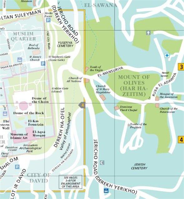 1. общая схема маршрута по Масличной горе