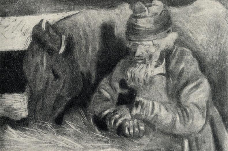 """Рисунок М. Ефимова к рассказу А. П. Чехова """"Тоска"""". 1903."""